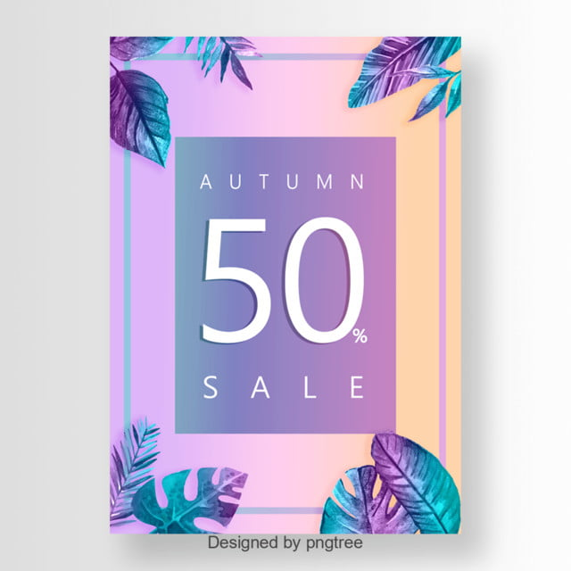 tropical leaves sales poster Template for Free Download on Pngtree