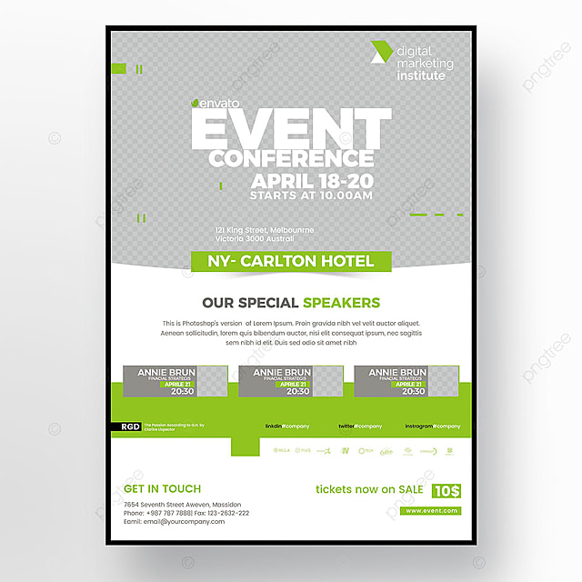 Event Conference Flyer Template for Free Download on Pngtree