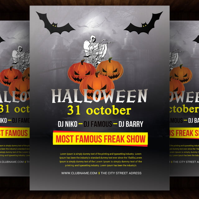 Halloween Flyer Template for Free Download on Pngtree