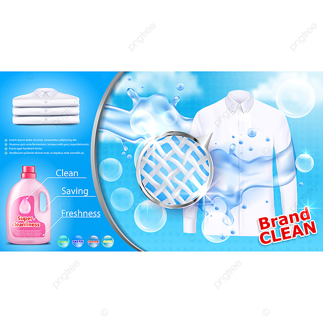 laundry detergent advertising poster Template for Free Download on