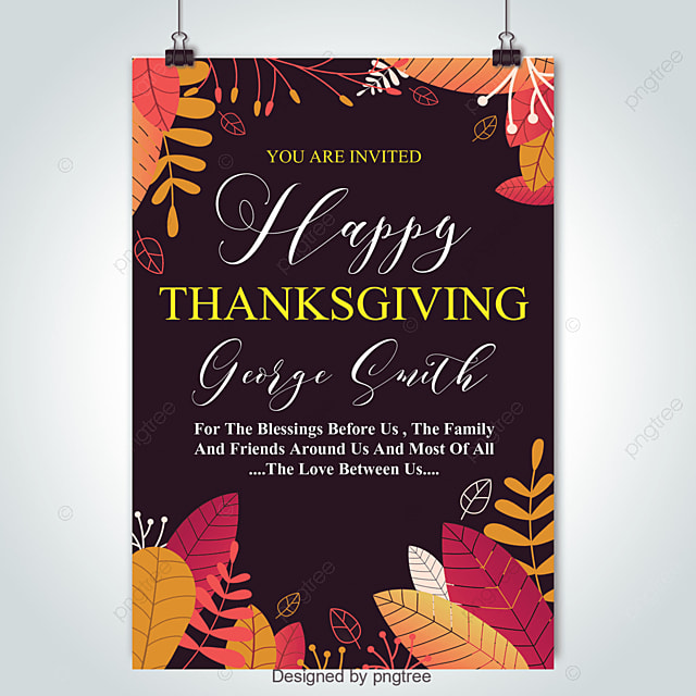 Happy Thanksgiving Flyer Template for Free Download on Pngtree