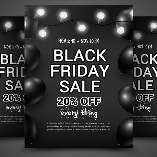 Black Friday Flyer Template for Free Download on Pngtree