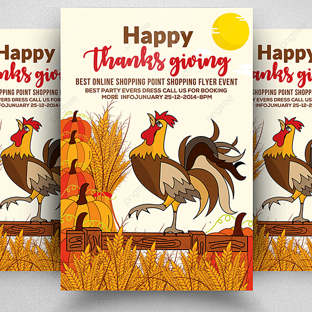 Thanksgiving Flyer Template Template for Free Download on Pngtree