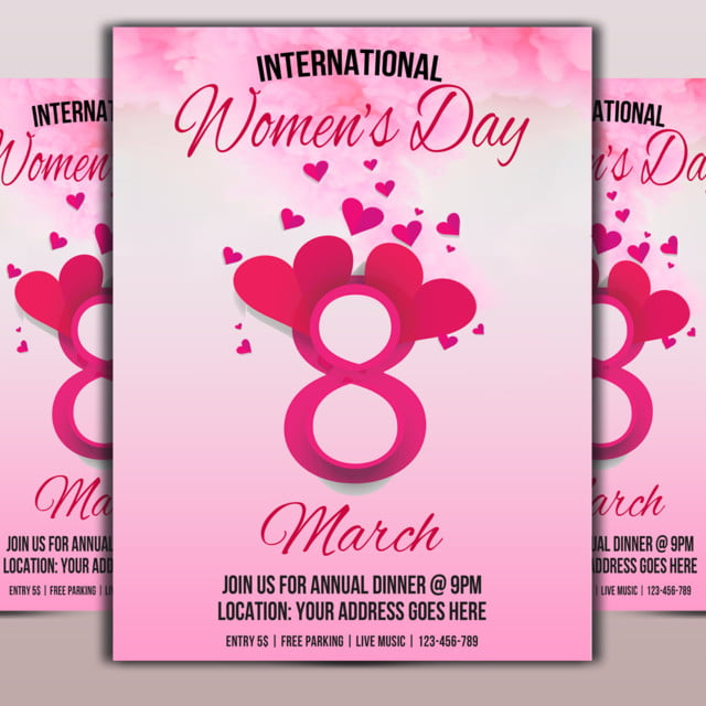 Women Day Flyer Template for Free Download on Pngtree