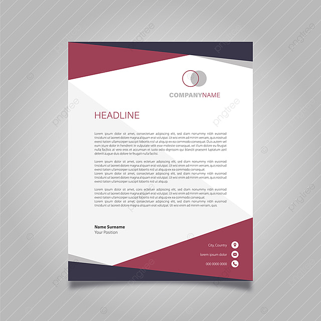 Letterhead Design Template for Free Download on Pngtree