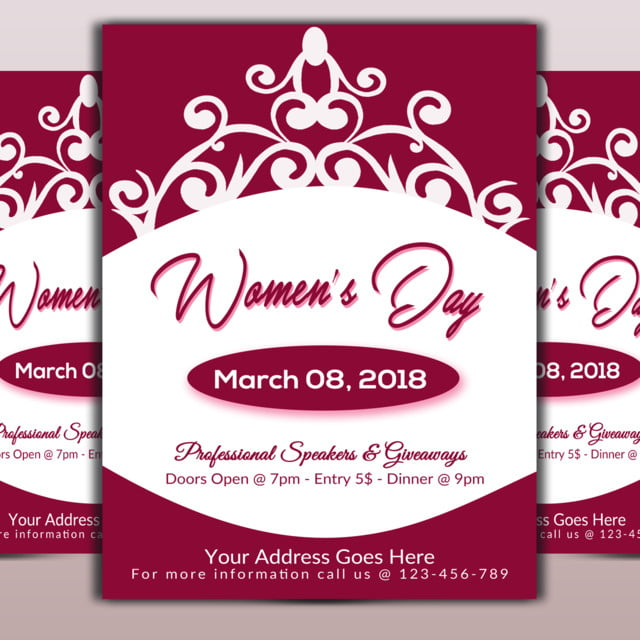 Women Day Event Flyer Template for Free Download on Pngtree