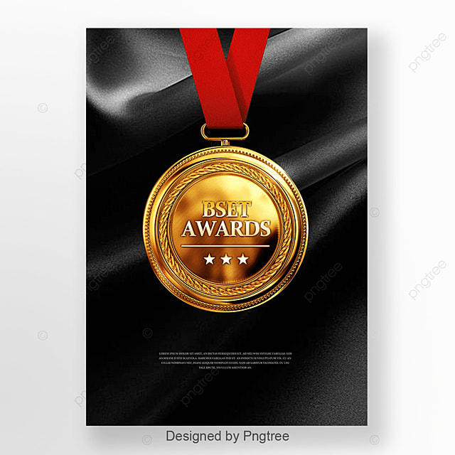 Black Silk Gold Medal Poster Template for Free Download on Pngtree