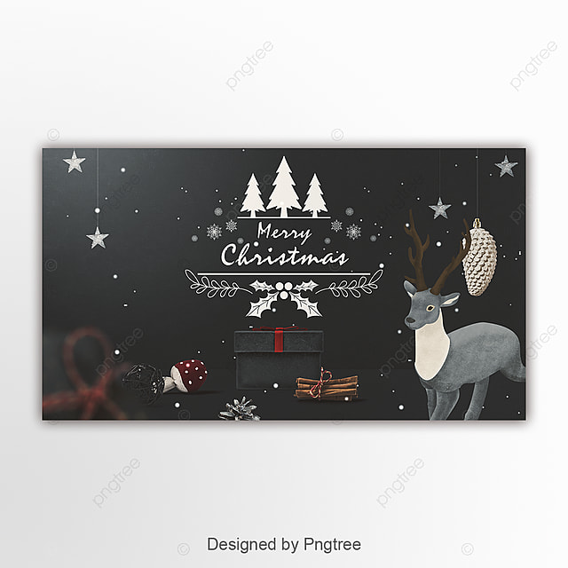 Retro Fashion Simple Christmas Page Banner Template for Free