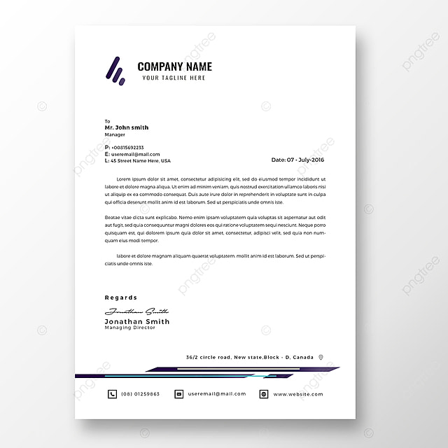 Business Letterhead Template Template for Free Download on Pngtree
