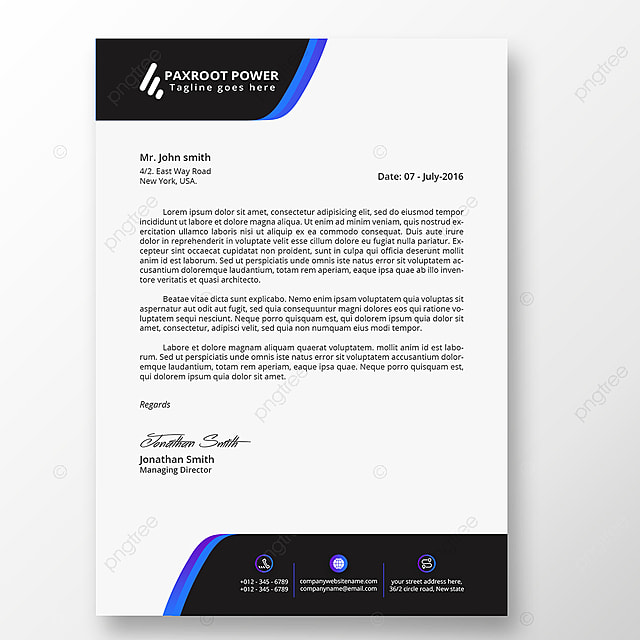Clean Business Letterhead Template Template for Free Download on Pngtree