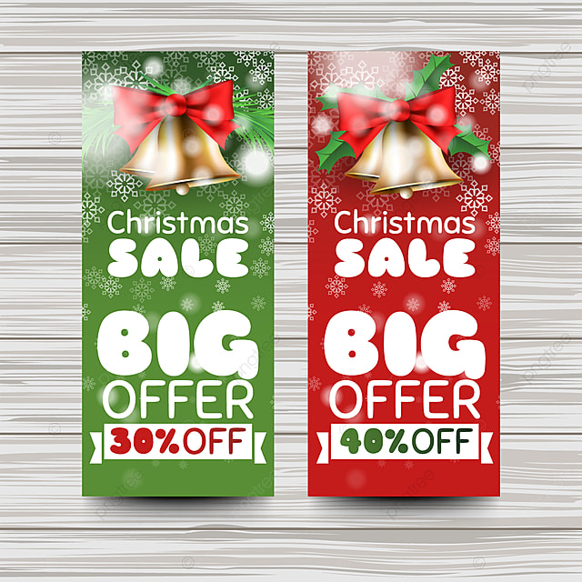 Creative christmas sales banner template Template for Free Download