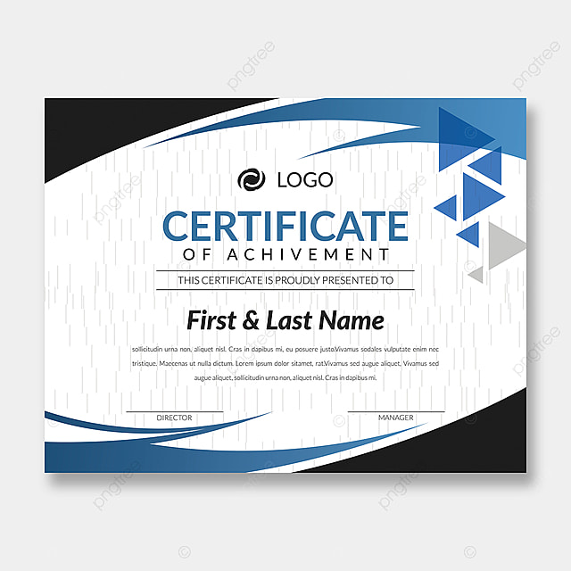 Achievement Certificate Cover Design Template Template for Free