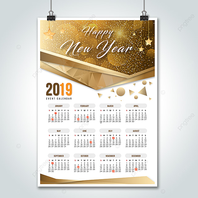2019 Holidays Event Calendar Template for Free Download on Pngtree
