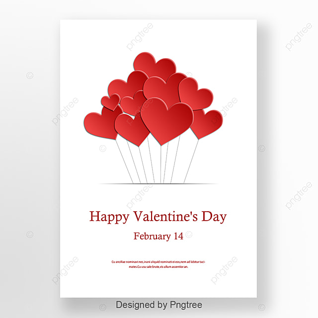 Love Balloon Valentines Day Poster Template for Free Download on Pngtree