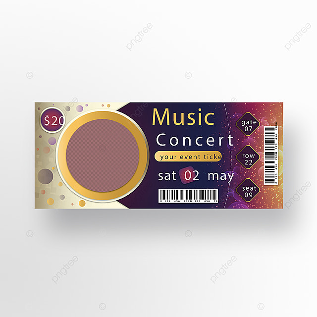 Music Concert Event Ticket Design Template for Free Download on Pngtree