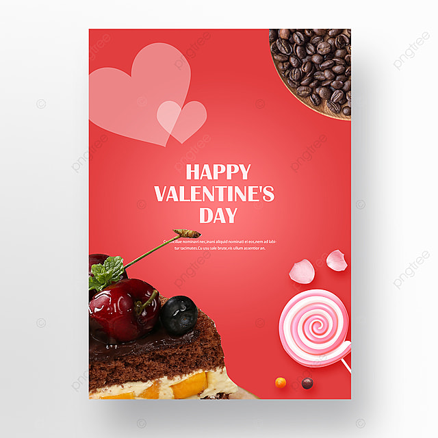 valentines day chocolate gift box poster Template for Free Download