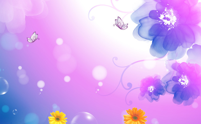 Lilac Pink Design Flower Background, Art, Pattern, Decoration