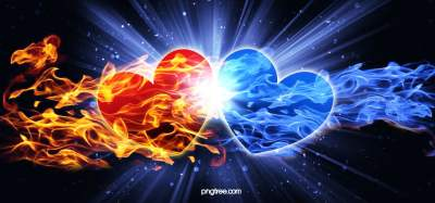 Cool Heartshaped Blue Flame Hd Background Image, Blue, Radiance, Starlight Background Image for ...