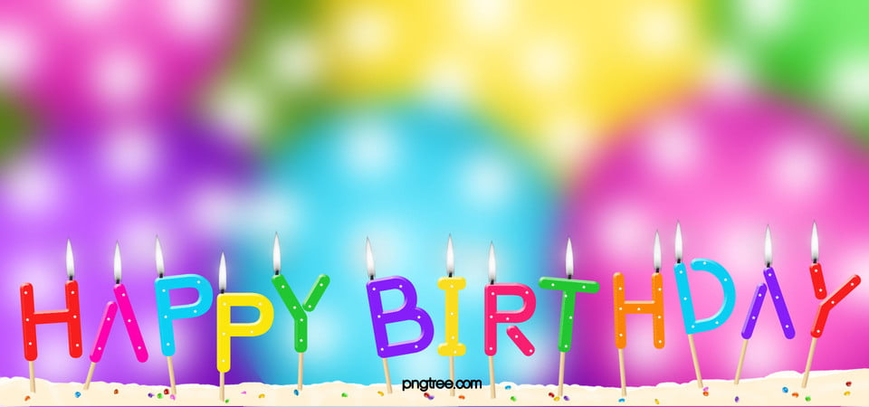 Colorful Birthday Background, Colorful, Birthday, Candle Background - birthday backround