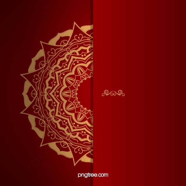 Red Wedding Invitation Vector Background, Red, Golden, Wedding