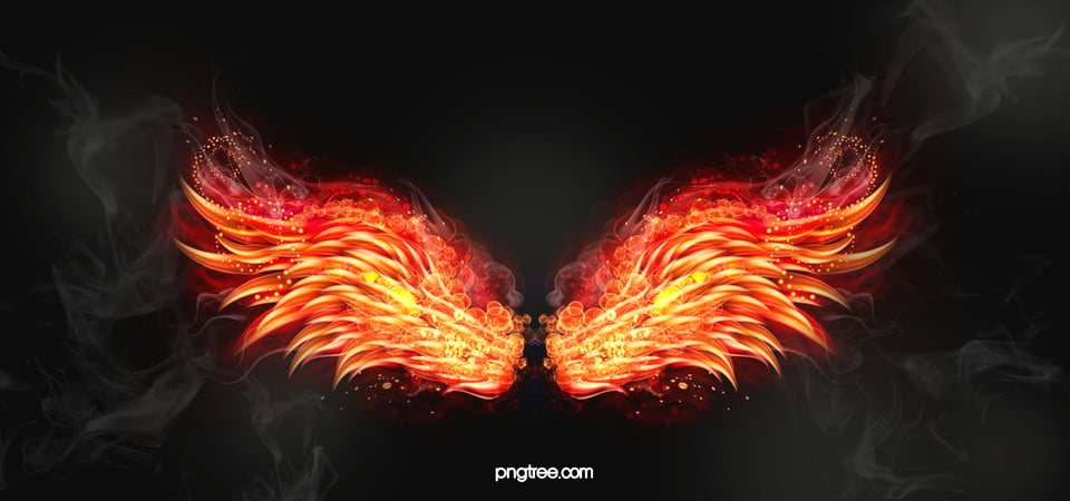Heat Wallpaper Hd Electronics Background Flame Wings Golden Poster Banner