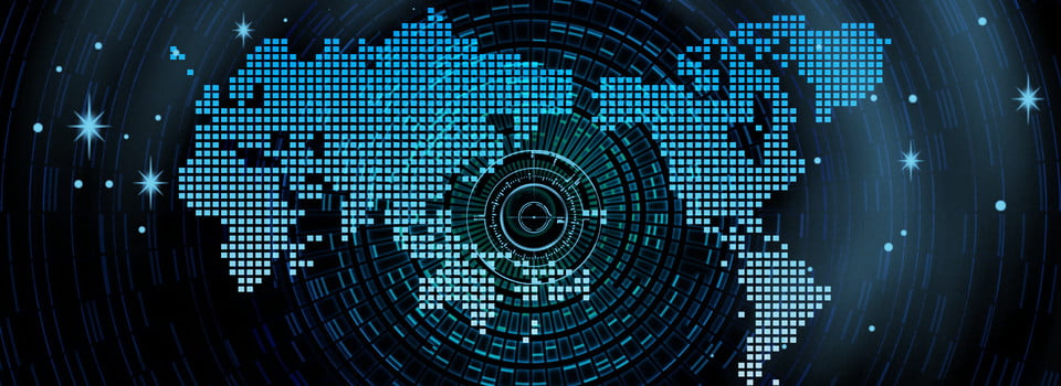 World Map Background Material, World Map, Earth, Black Background
