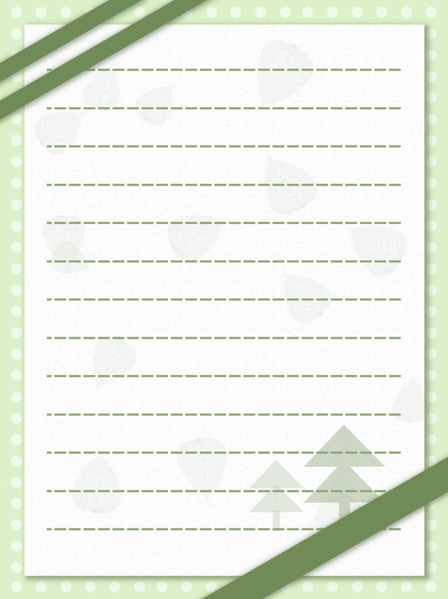 Envelope Fresh Green Leaves Polka Dot Christmas Background Tree,wave