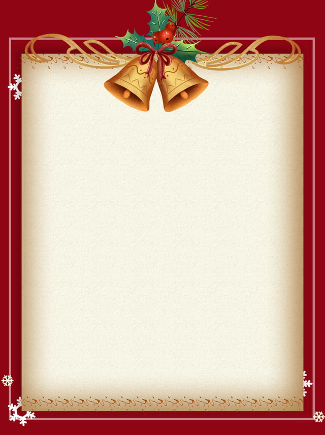 Golden Bells Christmas Paper Poster Background Page,stationery