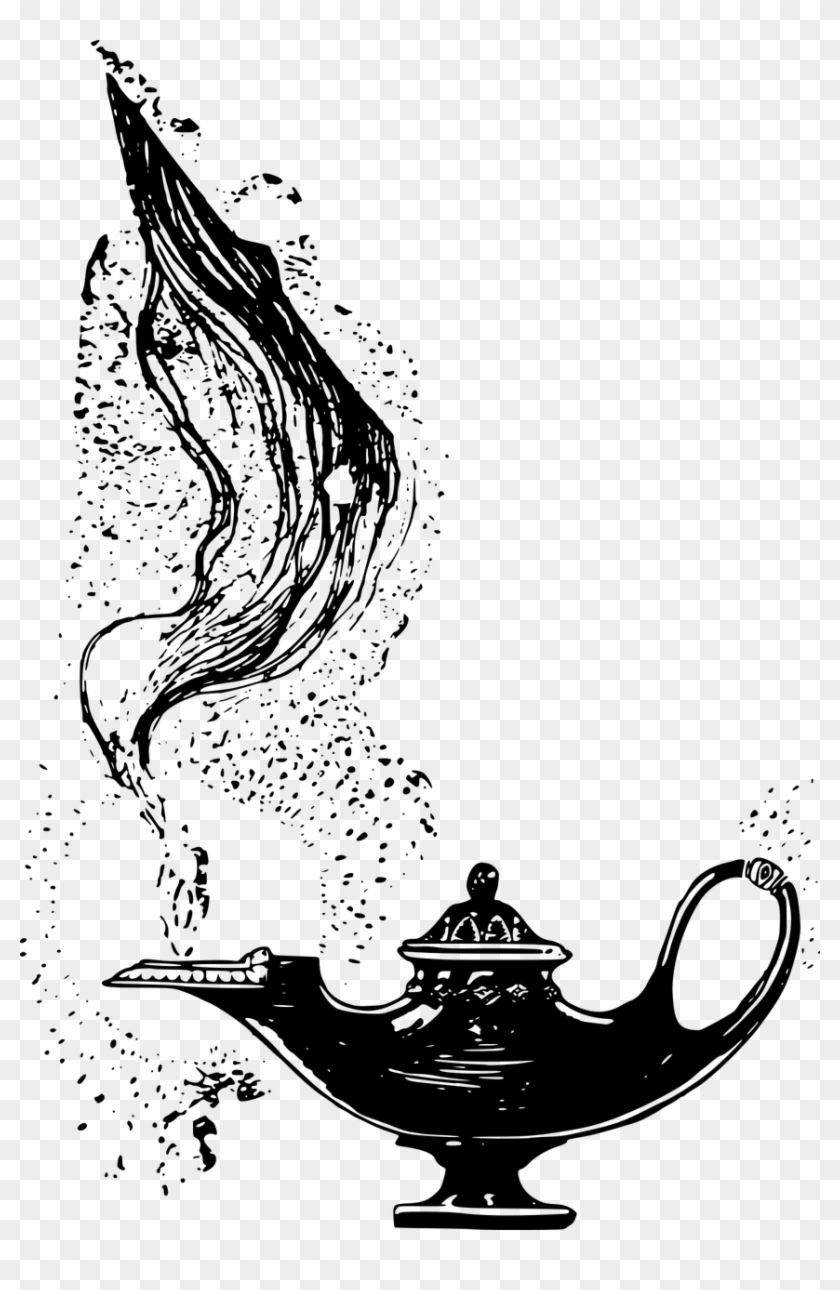 Aladdin Abu Png Aladdin Arabian Fairy Genie Png Image Genie Lamp Black And White