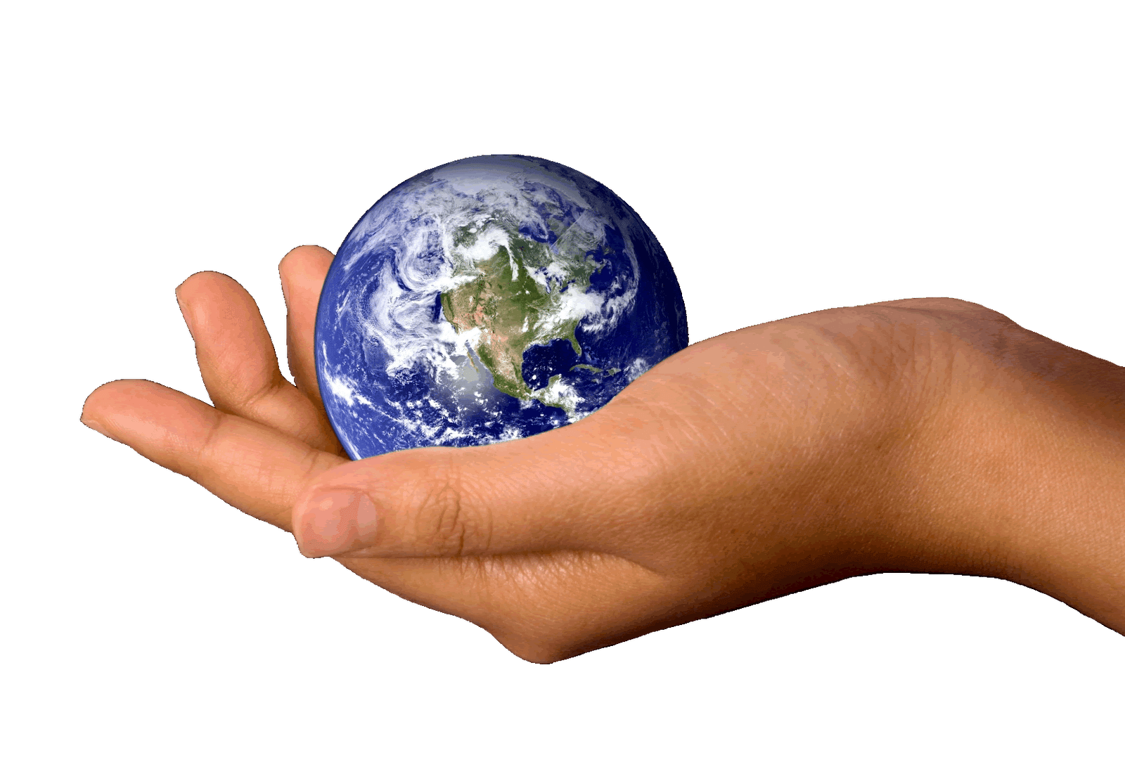 Earth In Hands Png Hand Image Free