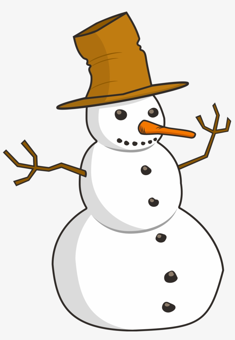 Snowman Clipart 5 Clipartset Snowman Clipart Black And White Free Transparent Png Download Pngkey