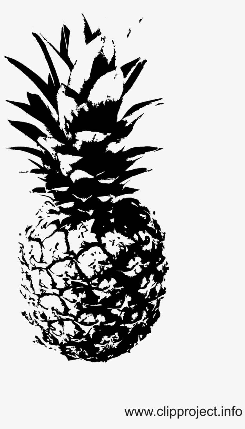 Schwarz Weiss Cliparts Ananas Photo Deco Black N White Schwarz Weiß Bilder Ananas 888x1510 Png Download Pngkit