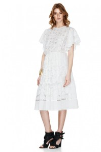 White Guipure Lace Dress - PNK Casual