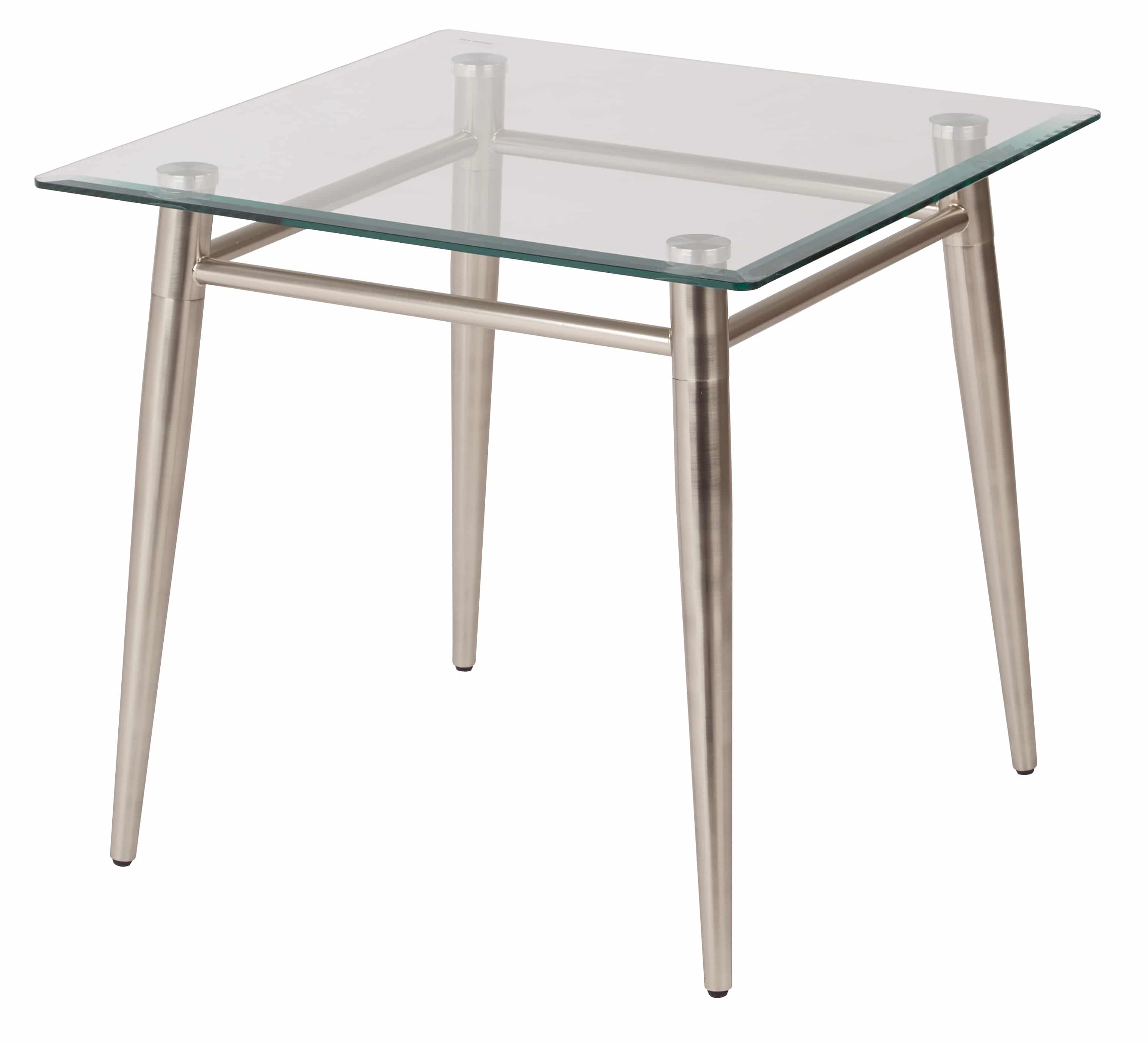 Square Glass End Tables Brooklyn Glass Square Top End Table Pnp Office Furniture