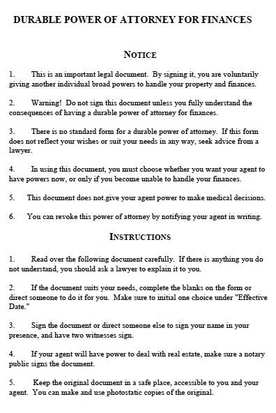 Free Michigan Durable Financial Power of Attorney Form u2013 PDF - general power of attorney forms