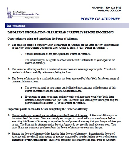 Free New York Durable Financial Power of Attorney Form u2013 PDF Template - general power of attorney forms
