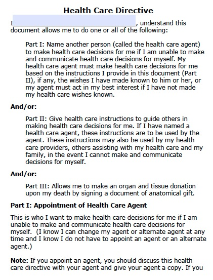 Free North Dakota Health Care Power of Attorney Form \u2013 PDF Template