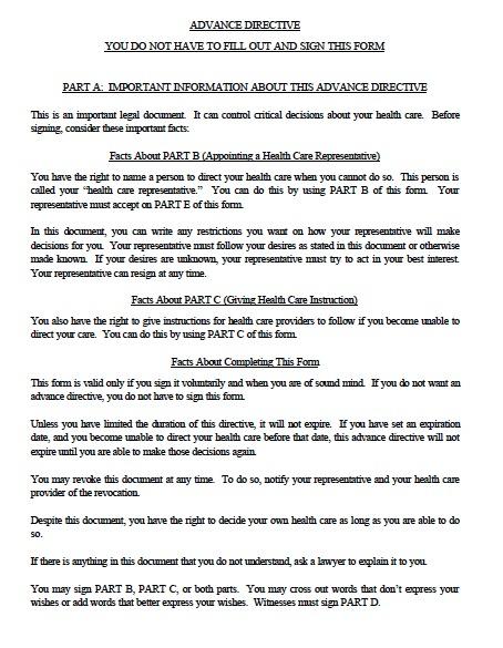 Free Oregon Medical Power of Attorney Form \u2013 PDF Template - advance directive form