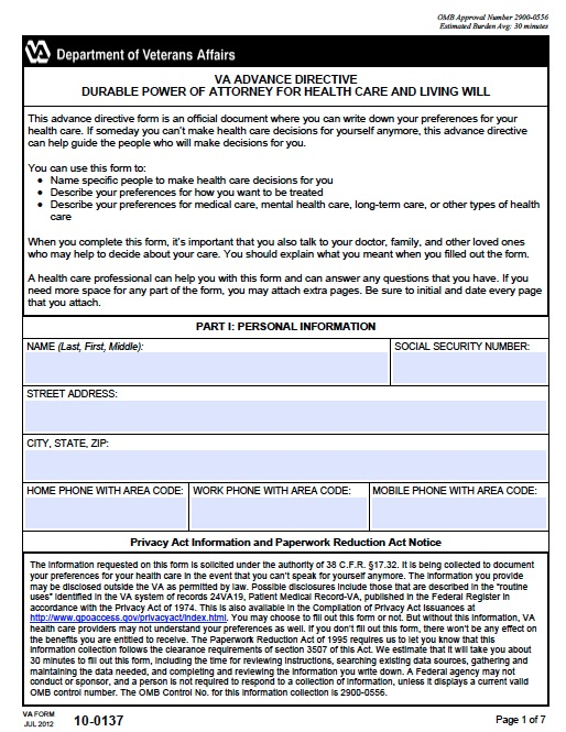 Free Virginia Medical Power of Attorney Form \u2013 PDF Template
