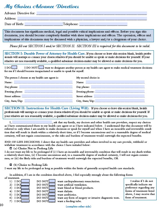 Free Wyoming Medical Power of Attorney (Advance Directive) \u2013 PDF