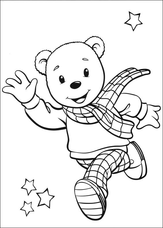 rupert bear coloring pages