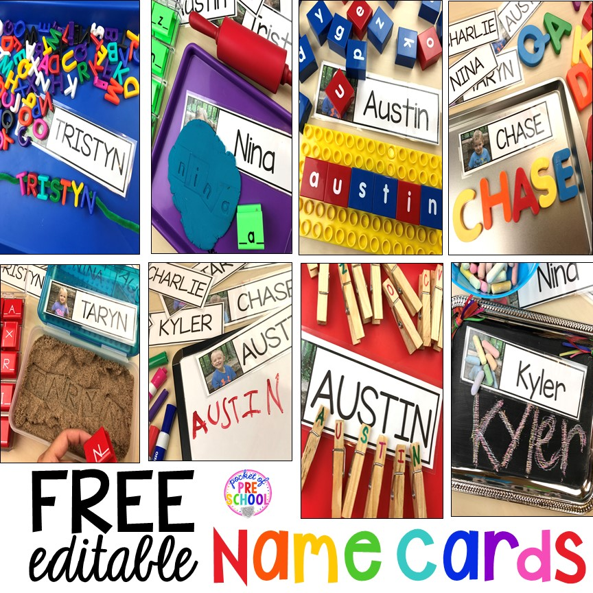 FREE EDITABLE Name Cards to Teach Little Learners their Name