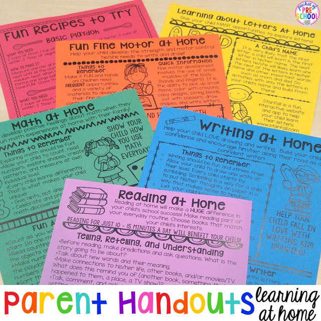 Building Skills  Learning at Home Parent Handouts (aka FUN