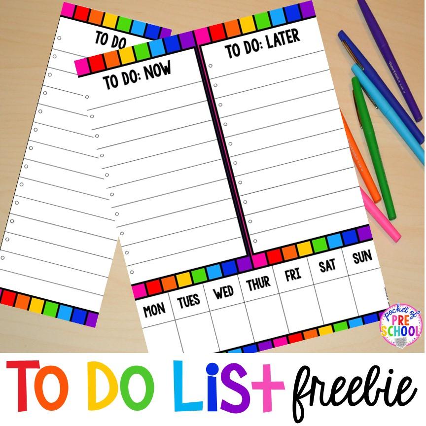 To Do List FREEBIE - Pocket of Preschool
