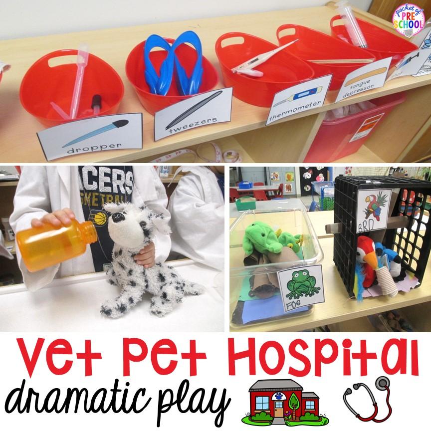 Vet Animal Hospital Dramatic Play - Pocket of Preschool
