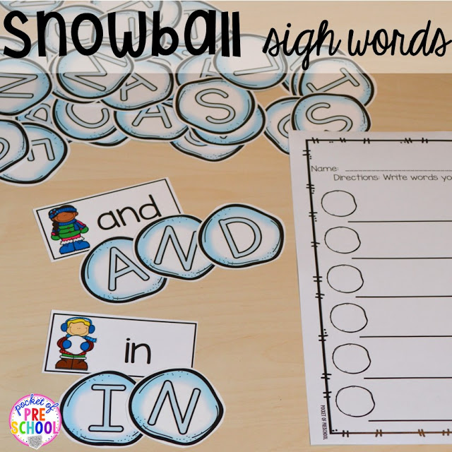 Winter Themed Activities and Centers (Snowman at Night Freebie too