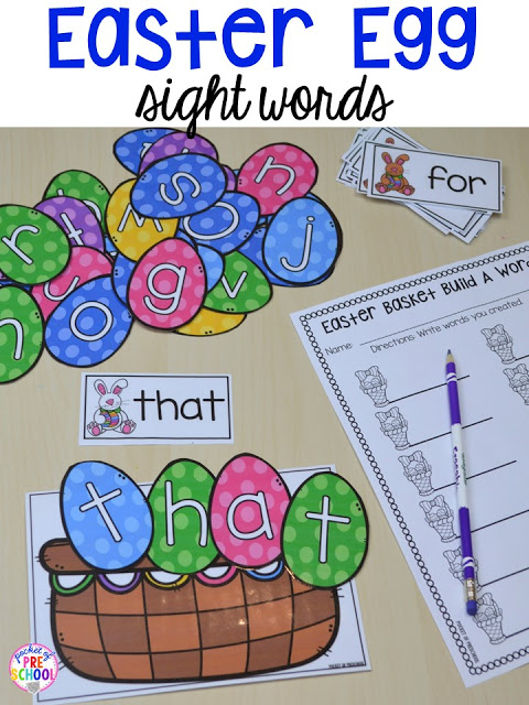 Easter Centers and Activities for Little Learners (Peep Freebie - kindergarten lesson plan
