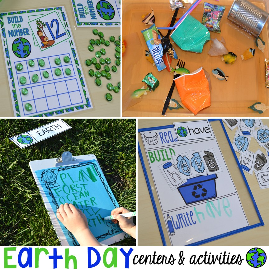 Earth Day Centers and Activities (FREE Earth Day Vocab Posters