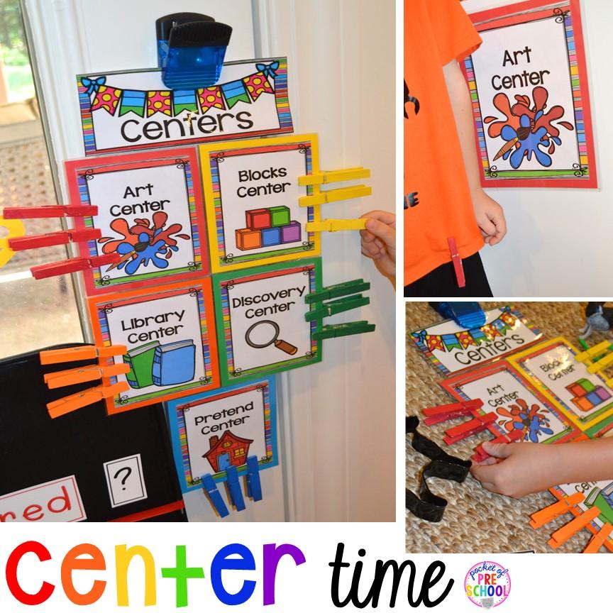 Center Time Management for Preschool and Pre-K - Pocket of Preschool