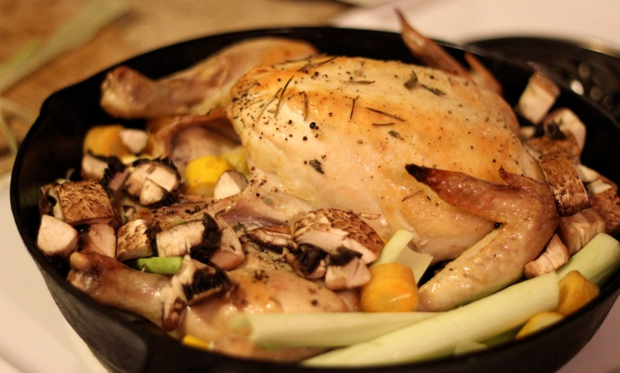 Splayed Roasted Chicken Recipe  |  Pocket Pause